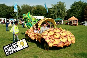 Pineapple Car by BOSI for hire summer festivals and events